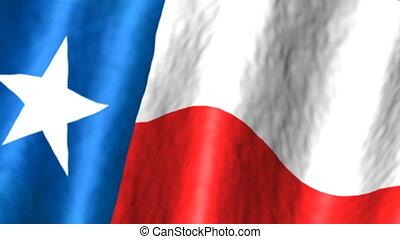 zawiązywanie, bandera, texas, tło
