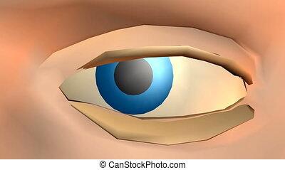 zawiązywanie, oko