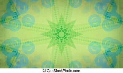 zawiązywanie, zielony, retro, tło