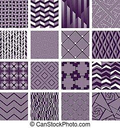 zawiły, wzory, komplet, liniowany