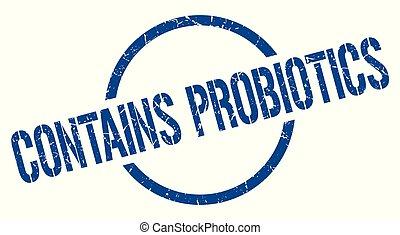 zawiera, probiotics, tłoczyć