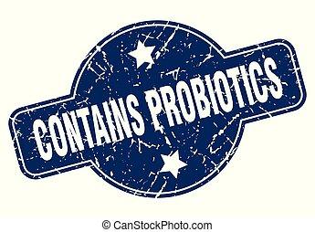 zawiera, probiotics, znak