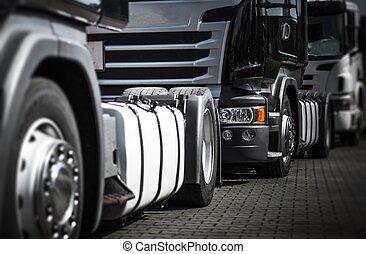 zawieszenie, handel, ciężarówki