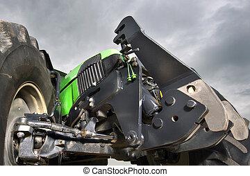 zawieszenie, ułożyć, traktor