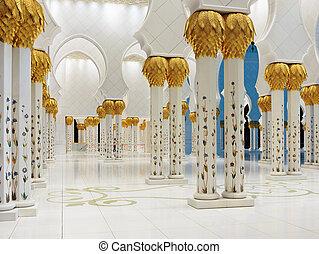 zayed, sceicco, moschea, dhabi, uae, abu