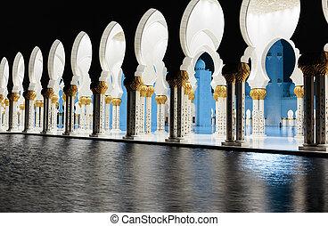 zayed, szejk, meczet, dhabi, uae, abu