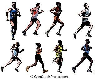 zbiór, biegacze
