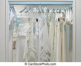 zbiór, od, poślubne stroje, w, przedimek określony przed rzeczownikami, sklep