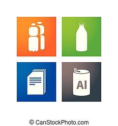 zbiór, odpadki, oddzielny