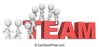 zbierać, przedimek określony przed rzeczownikami, team.