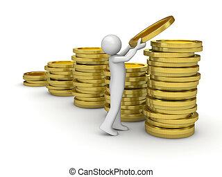 zbieranie, pieniądze obsadzają