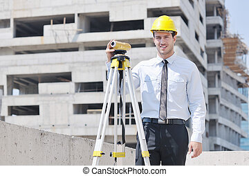 zbudowanie, architekt, umiejscawiać