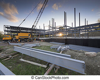 zbudowanie, budowa umieszczenie