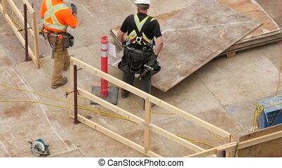 zbudowanie, highrise, pracownik