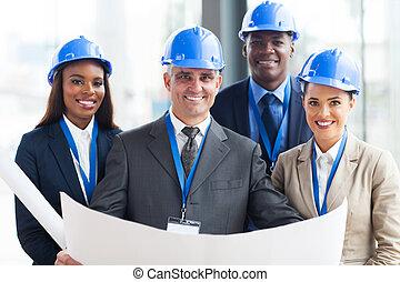 zbudowanie, kierownicy, drużyna