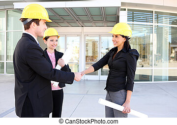zbudowanie, kobieta handlowa, człowiek