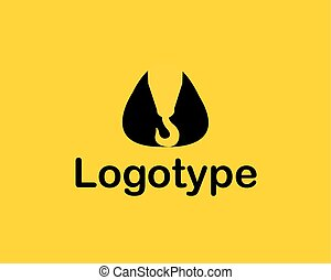 zbudowanie, logo, towarzystwo, wektor, żuraw