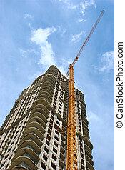 zbudowanie, od, multi-dwelling, zabudowanie