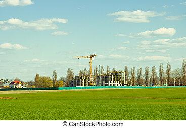 zbudowanie, od, nowy, mieszkanie, dom
