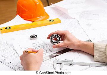 zbudowanie, projekt, papiery