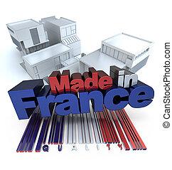 zbudowanie, robiony, francja