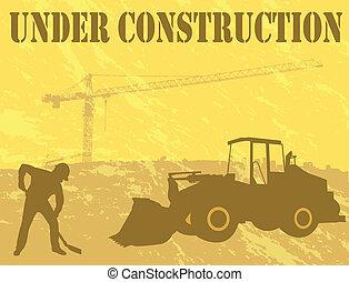 zbudowanie, tło, pod