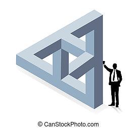 zbudowanie, trójwymiarowy