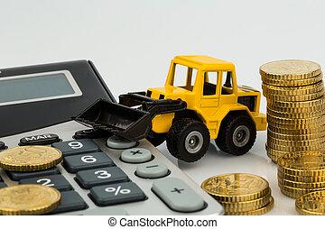 zbudowanie, uważając, przemysł, koszt