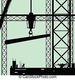 zbudowanie, wektor, miejsce, ilustracja