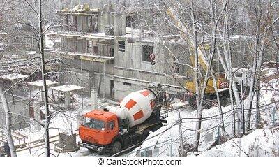 zbudowanie, zima