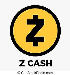 zcash, monnaie, (zec), vecteur, logo, cripto