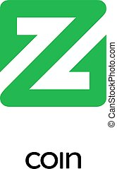 ZCoin Cryptocurrency Coin Sign Isolated