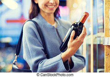 zdařilý eny, vybrat, a, buying, víno, do, obchod
