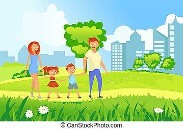 zdařilý rodinný, chůze