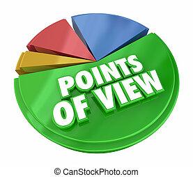 zdania, różny, wykres, ilustracja, sroka, punkty, przegląd, prospekt, 3d