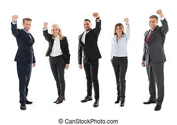 zdar, business národ, srdečný, proslulý, portrét