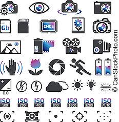 zdejmować aparat fotograficzny, ikony