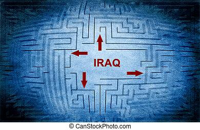 zdezorientować, irak