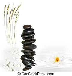 zdrój, kamień, zen, abstrakcyjny