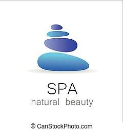 zdrój, naturalne piękno, szablon, logo