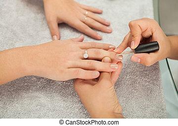 zdrój, salon., manicure.