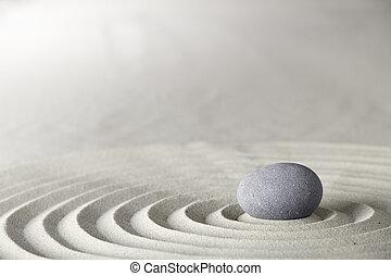 zdrój, zen, albo, tło