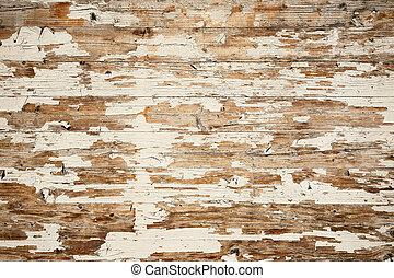 zdrapany, barwiony, drewno