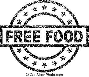 zdrapany, jadło, textured, wolny, tłoczyć, znak