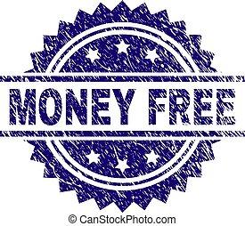 zdrapany, tłoczyć, pieniądze, znak, wolny, textured