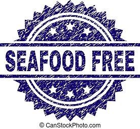 zdrapany, tłoczyć, produkty morza, textured, wolny, znak