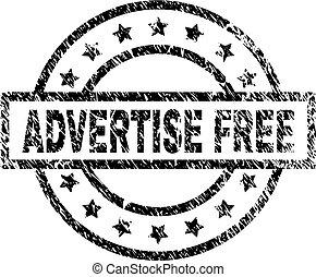 zdrapany, tłoczyć, textured, wolny, znak, reklamować