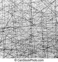 zdrapany, texture:, prosty, kwestia, biały