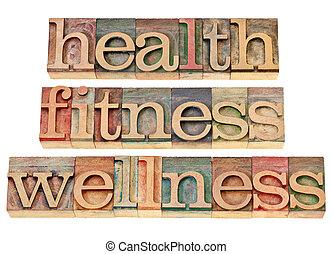 zdraví, vhodnost, wellness