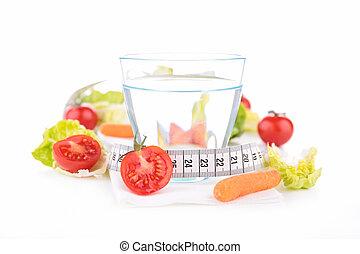 zdravý food, a, nápoj